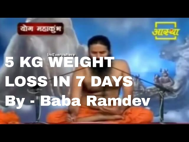 Baba ramdev weight loss 5kg in 7 days tip thinning daily ccuart Images
